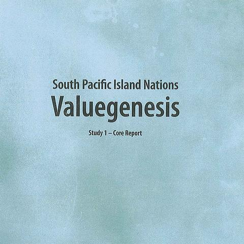 South Pacific Island Nations Valuegenesis Study 1 Core Report
